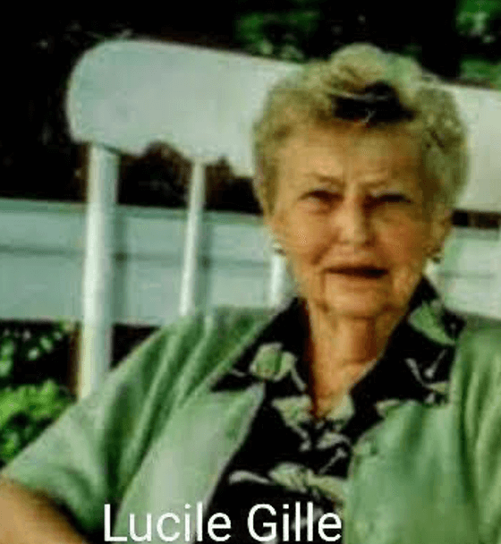 Lucile Gille sitting down